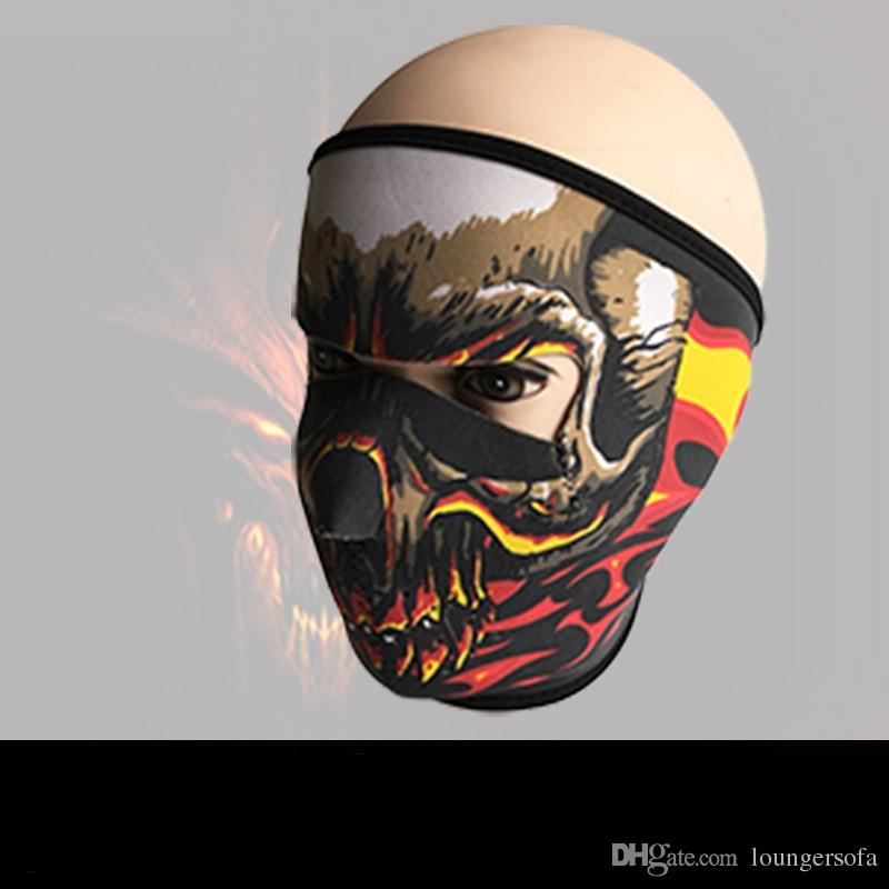 Novo Padrão Crânio Máscara Facial Cores Halloween Costume Party Ao Ar Livre Moto Mantenha Quente Cachecol De Esqui Snowboard Esportes Toalha 6fd W