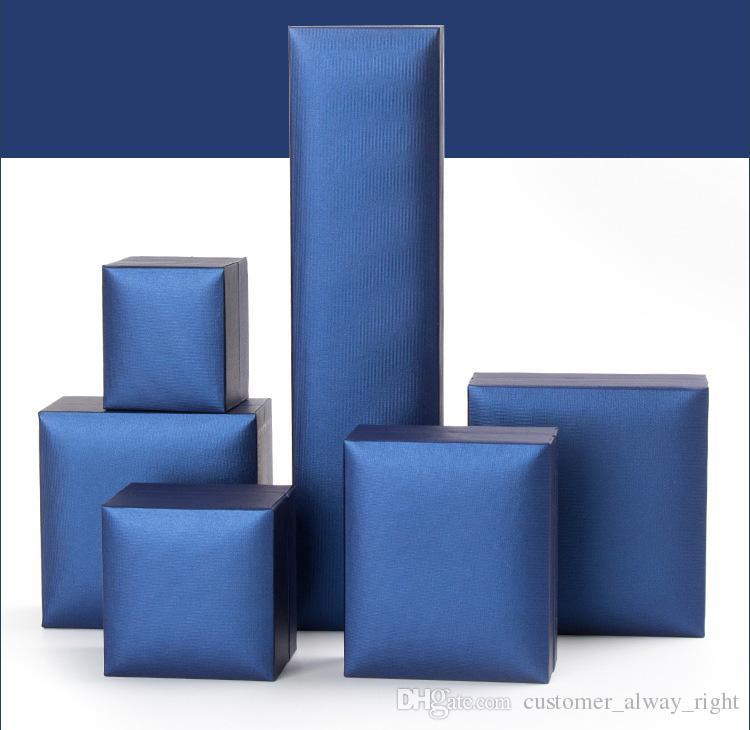 Las cajas de regalo del OEM hechas en cajas de regalo de lujo de Jesús de China también cabidas para el color azul de la caja de reloj 6 tamaños liberan el envío