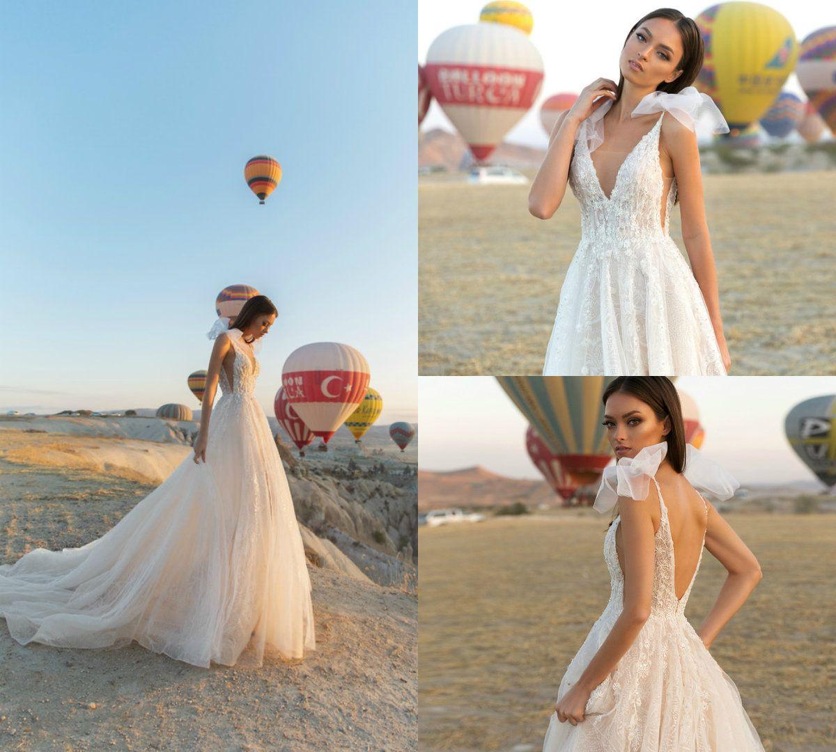 bc455554ac9 ... 2018 eva lendel beach wedding dresses tulle lace sweep train a line  backless boho wedding dress ...