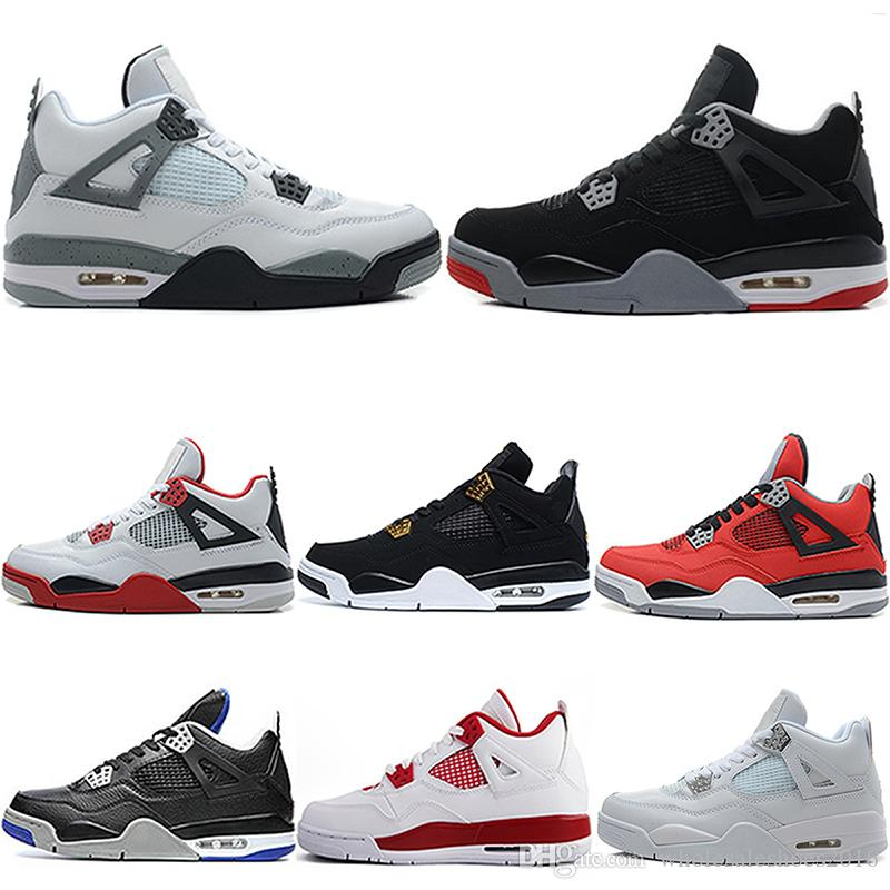 73979bc1c40 2019 2018 Basketball Shoes 4 4s Mens Designer Pure Money GS Motorsport  Sports Bred AT 89 Royalty Blackcat Toro Bravo Oreo Sneakers US 8 13 From ...