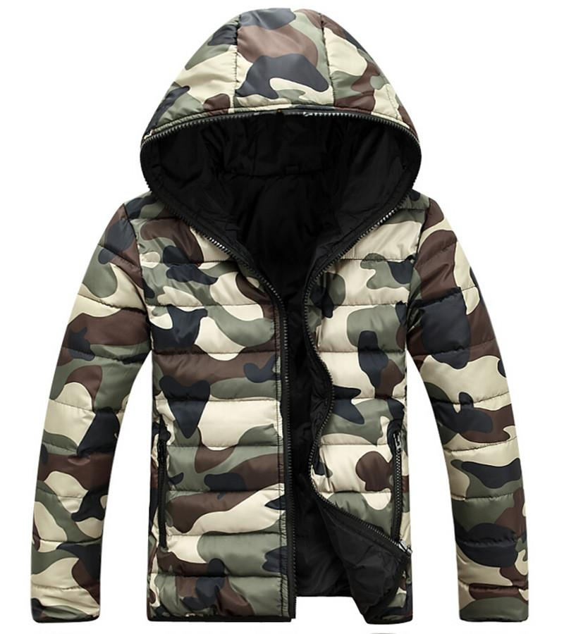 159b3c98b6e 2017 New Mens Winter Leisure Men Hooded Padding Jacket Camouflage ...