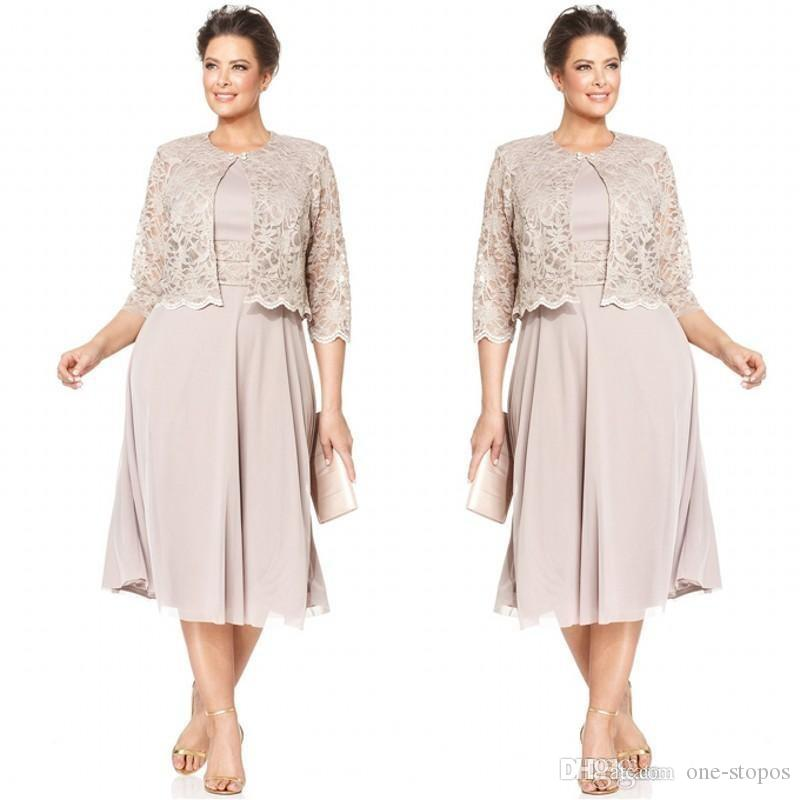 2018 Plus Size Mother S Dresses With Half Sleeves Wedding Party