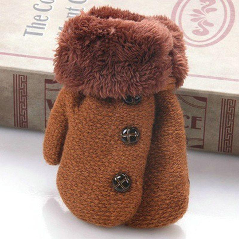 58246fcad 2019 Winter Baby Boys Girls Gloves Full Finger Kids Mittens Warm ...