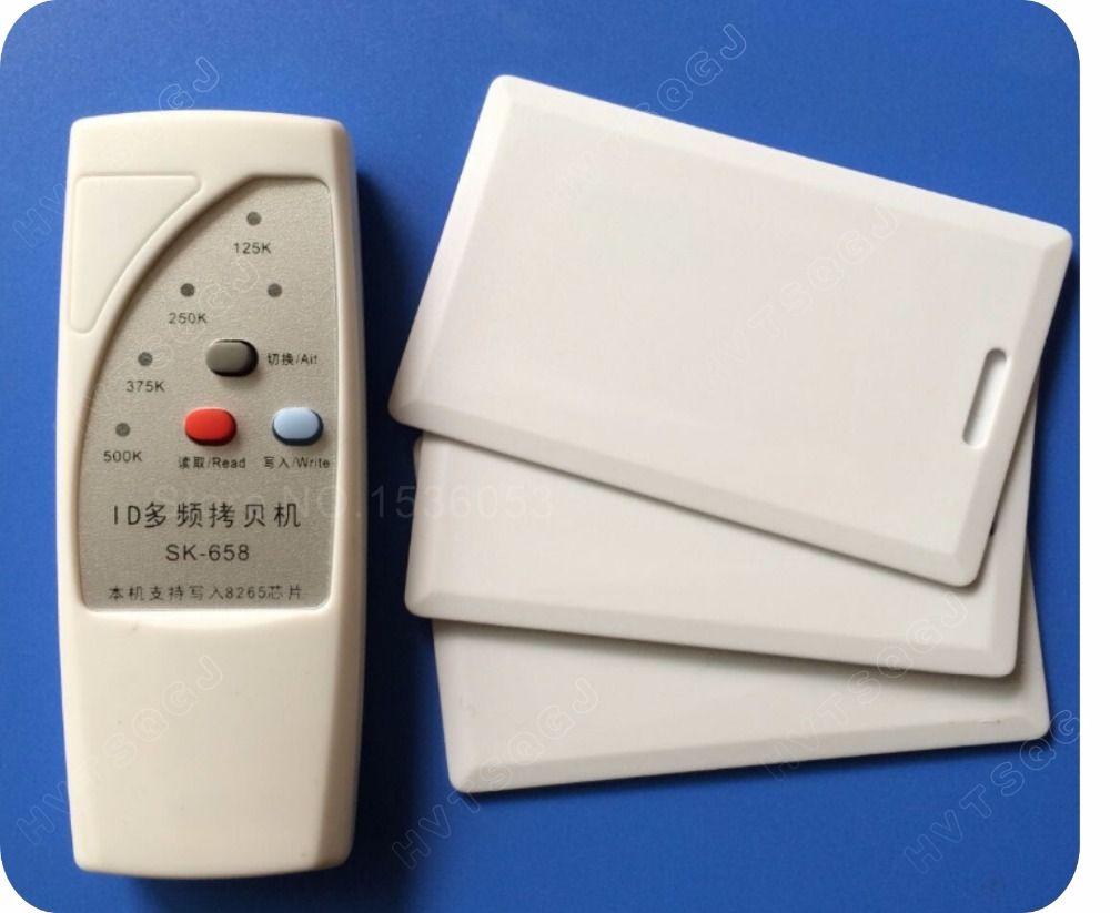 Writable Key Tags keyfob 125KHz EM4100 EM410X ID Card Handheld RFID Copier  Writer Duplicator+5PCS Writable card Wholesale