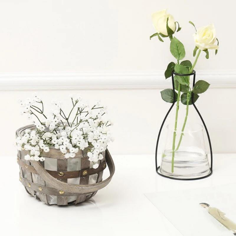 Nordic Flower Ornaments Black Lines Vase Abstract Minimalist