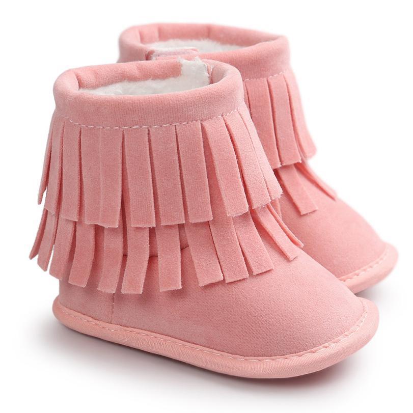 4c02a015 Compre Baby Keep Warm Botas De Doble Cubierta Suela Blanda Botas De Nieve  Zapatos De Cuna Blanda Botas Para Niños Pequeños Zapatos De Bebé Recién  Nacidos A ...