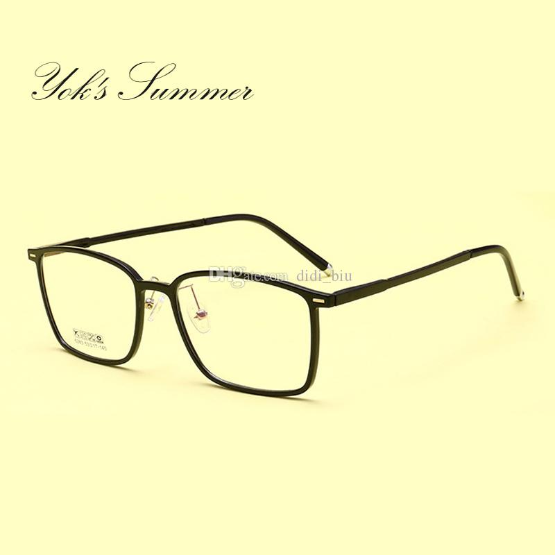 be44e9af14 Yok s Summer Rectangle Frame Clear Spectacles Men Vintage Plastic ...