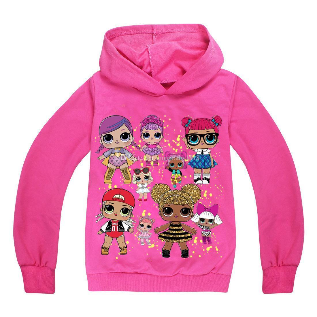 c64662f8e006 2019 4 12Y Baby Girls Hoodie Autumn Children Hoodies Girls Cartoon ...