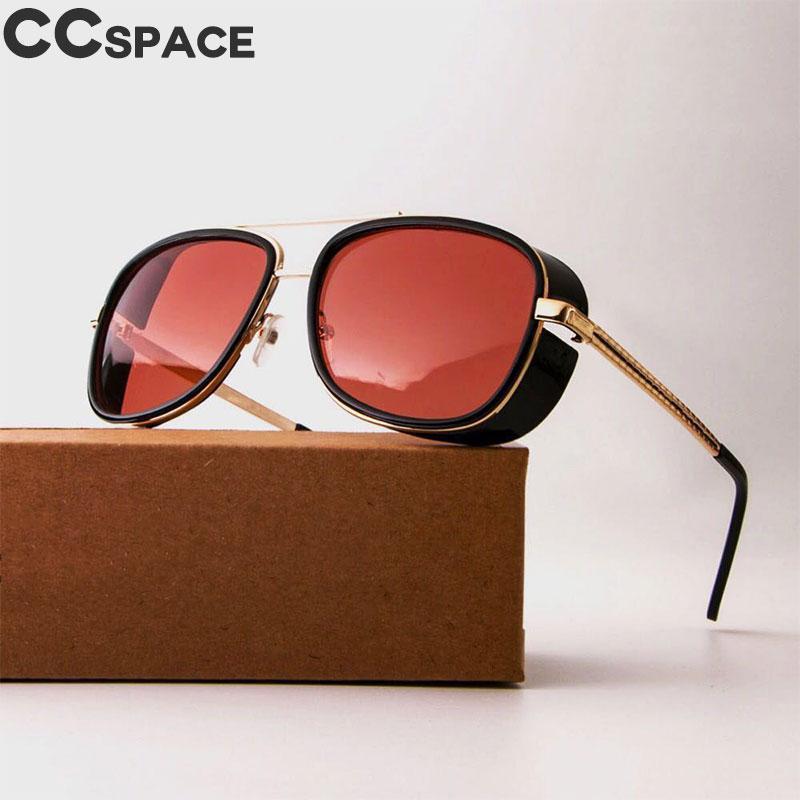 49e34e7c2f Compre Gafas De Sol Steampunk Gafas De Sol Tony Stark Iron Man Gafas De Sol  Matsuda Gafas Retro Square Gafas Rojas Gafas De Sol CCspace UV400 A $24.45  Del ...