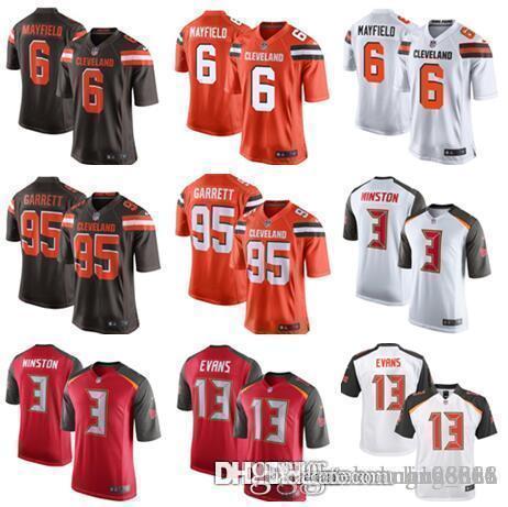 5b3d383e1 Men s Womens Kids Cleveland Browns Jersey 6 Baker Mayfield 95 Myles ...
