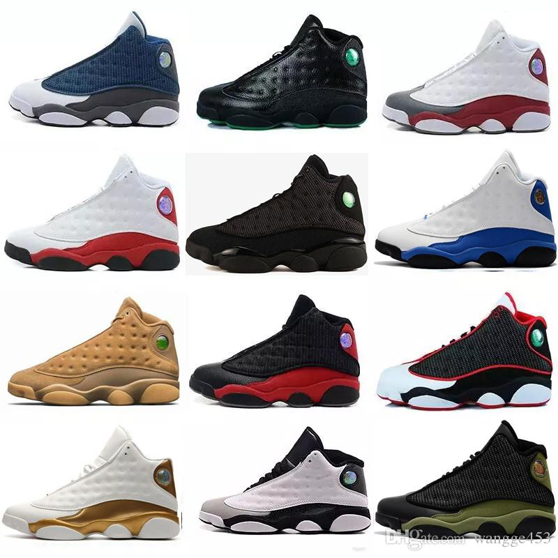 28aa3e555f7c 2018 New Mens Womens Basketball Shoes 13s 13 Bred Black White True Red  Hologram He Got Game Discount Sports Shoe Athletic Sneakers Shoes Men  Basketball ...