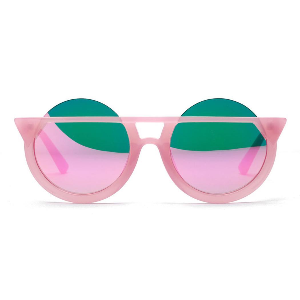 2b010b754f75 New Fashion Brand Cat Eye Sunglasses Women Cute Half Frame Round Sun Glasses  Retro Vintage Men Female Pink Eyewear Shades UV400 Eyeglasses Sunglasses  Hut ...