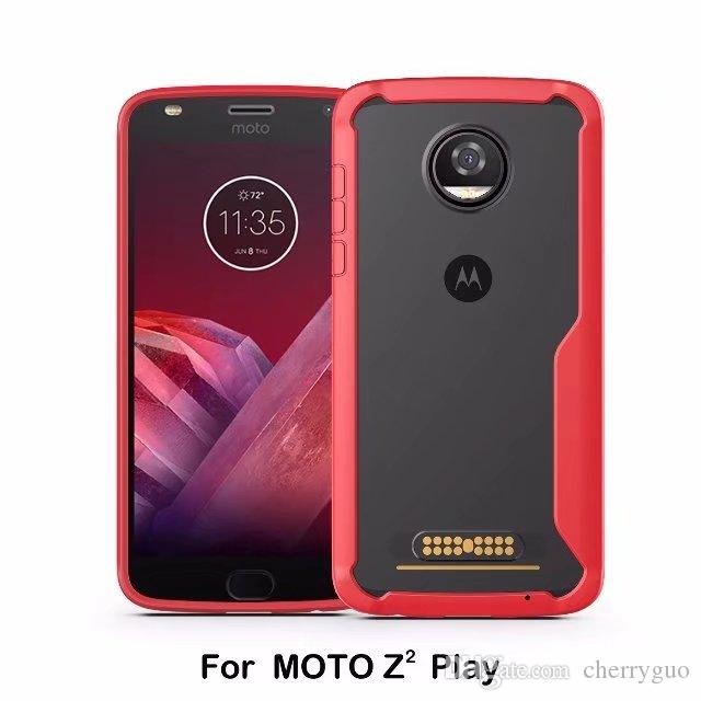 newest c9a67 497fd For Motorola Moto Z2 Play Case Drop Protection Bumper Enhanced Hard Clear  Back Cover For Moto Z2 Play