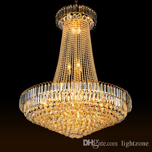 Lights & Lighting 120cm Luxury Big Europe Large Led Chandelier Crystal Chandelier Villa Double Floor Living Room Lamp Hotel Lobby Customization At Any Cost
