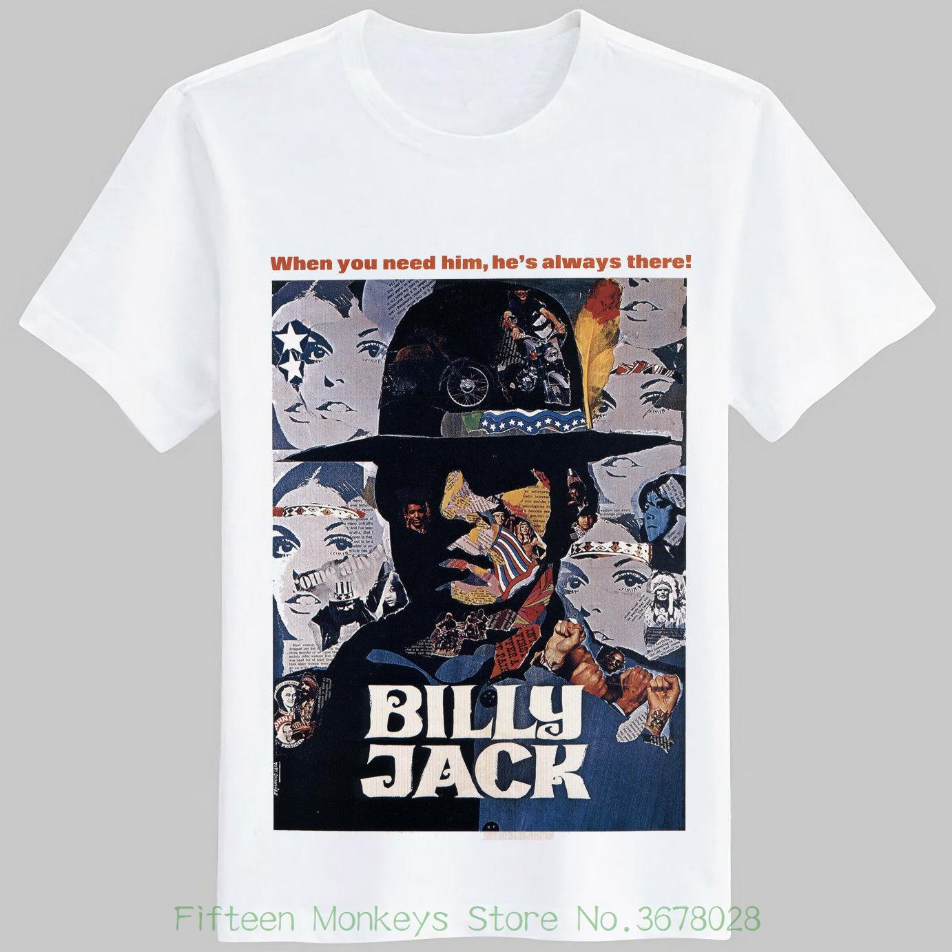 2ff30249 Men Cotton Printed T Shirt Billy Jack T Shirt Movie Poster Vigilante Navajo  Veteran Martial Artist To Interesting T Shirt Designs T Shirts Cool Designs  From ...