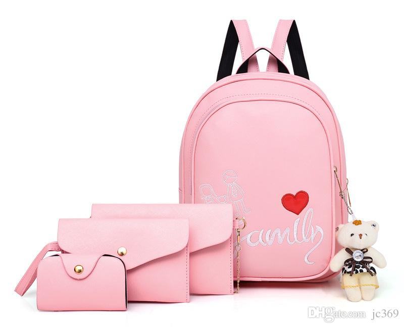 ed5f670fb2 2018 Summer Popular Backpack Female PU Leather Suit Sweet Lady ...