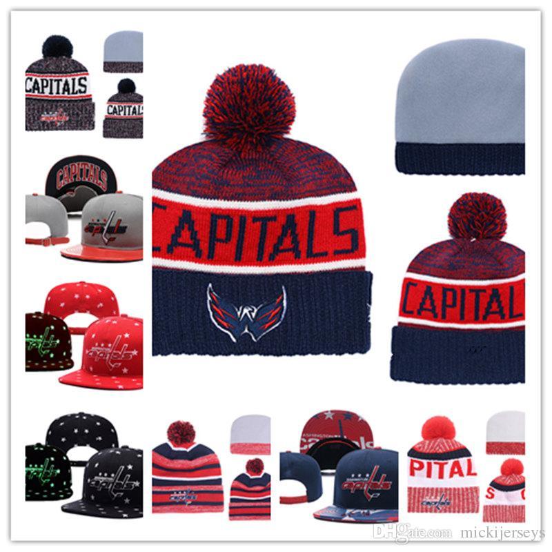2019 Washington Capitals Knit Hat White Grey Red Black Washington Capitals  Snapback Caps Bucket Hat One Size Fit Most From Mickijerseys fd44f12ffab