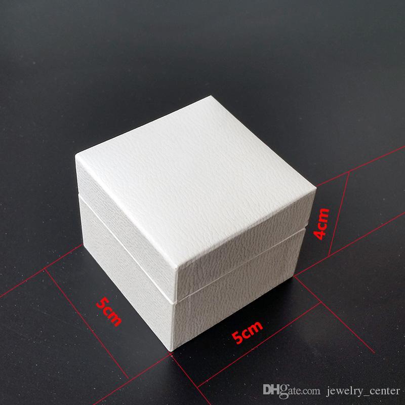 Klassisches weißes Quadrat schmuckverpackungen originalverpackungen für pandora charms schwarzer samt ring ohrringe display schmuckschatulle