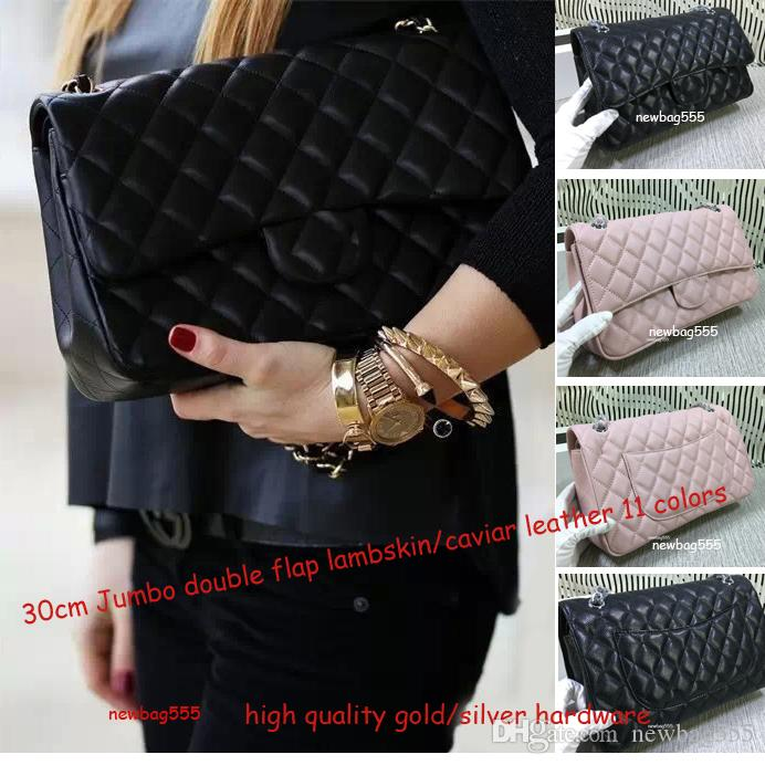 Hot Fashion Top Quality 30cm JUmbo Shoulder Bag Women Mummy Large Volume  Shopping Tote Double Flap Cultches Quilted Genuine Leather Handbag Cheap  Handbags ... ac13dfda1e945