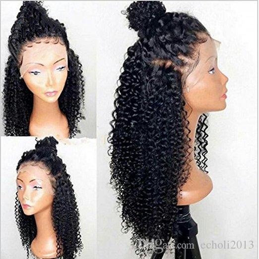 360 parrucche crespi ricci crespi capelli umani parrucca glueless 130% densità vergine brasiliana con capelli del bambino le donne nere