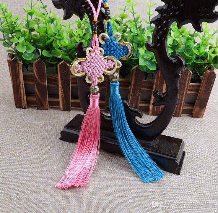 DIY accessories Chinese style household decorate gifts Pure handmade gold edge Bianfu your Chinese knot pendant FD10