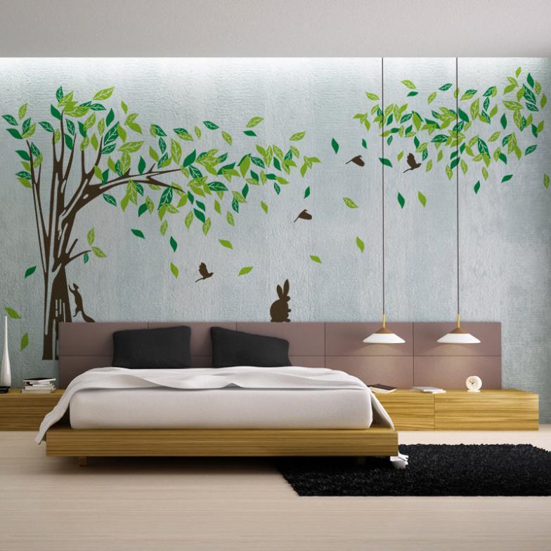 Extra Large 215 395 Cm Big Green Tree Vinyl Wall Stickers Wall