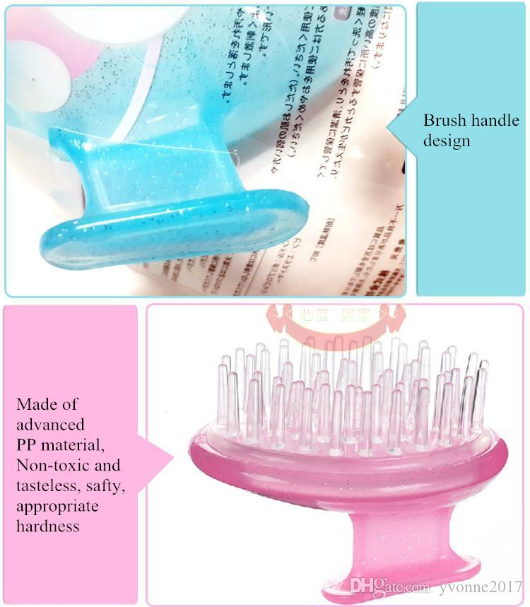 Salon hair clean silicone brush cleaning and massage scalp soft advanced PP brush Airbag hair washing brush