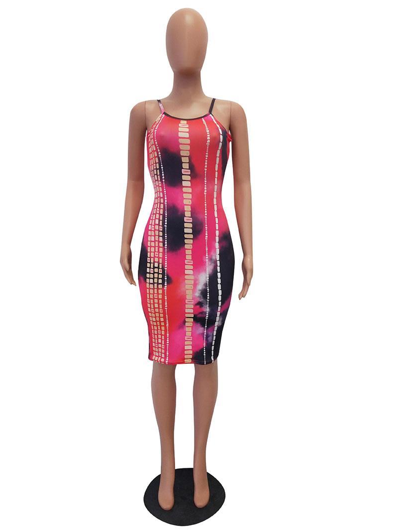 2018 새로운 여성 캐주얼 드레스 패션 스타 프린트 조끼 탱크 드레스 Vestidos Off Shoulder Club Wear Halter Bodycon dress
