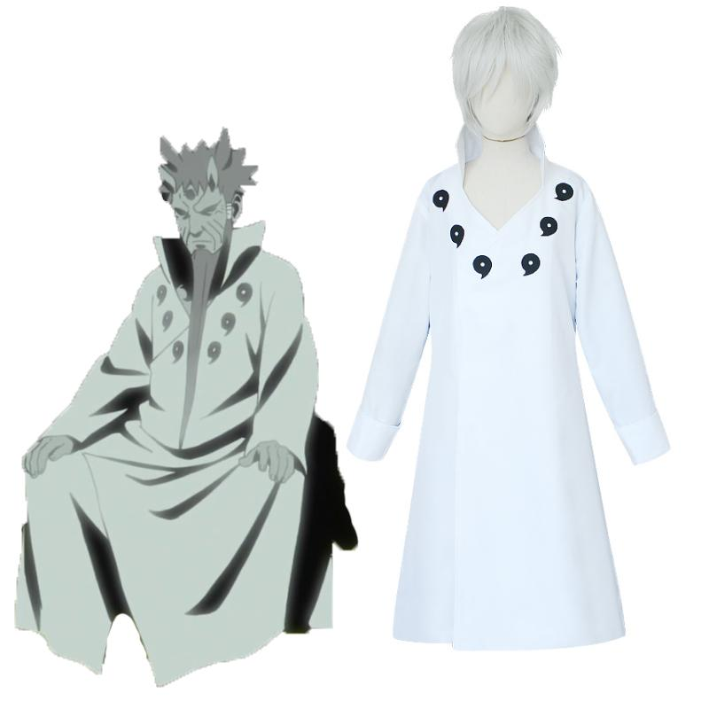 Anime NARUTO Cosplay Costume Ootutuki Hagoromo White Cloak Cosplay Costumes Halloween Carnival Party Costume