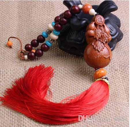 Car Rearview Mirror Pendant Rosewood Chinese Style Buddha Beads Hanging  Pendant Red Fringe Car Interior Decoration Cool Car Decorations Cool Car  Gadgets For ...