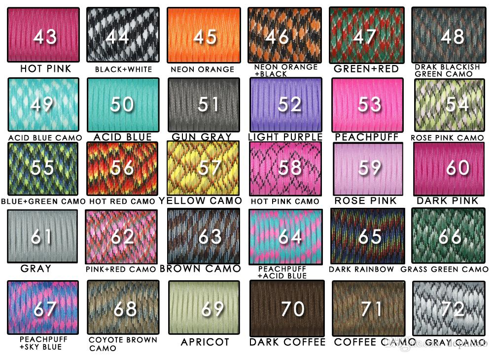 Climbing Rope Parachute Cord Paracord 550 Rope Mil Spec Type III 7 Strand 100FT