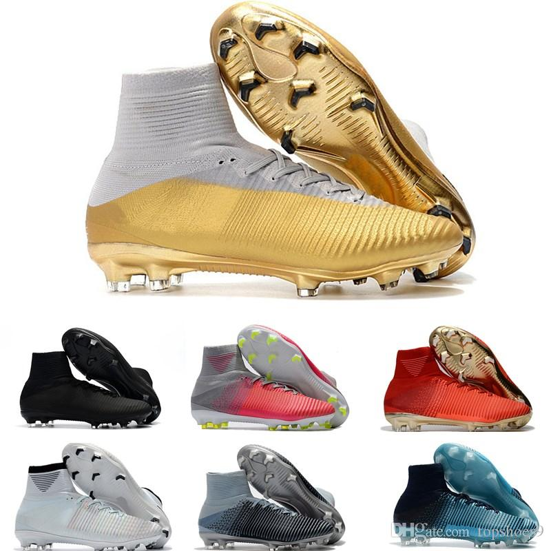 2019 Best Quality Women Mens Mercurial Superfly CR7 V FG Football Boots ACC  Outdoor Soccer Shoes Kids Cristiano Ronaldo Soccer Cleats From Topshoes9 3091db022c