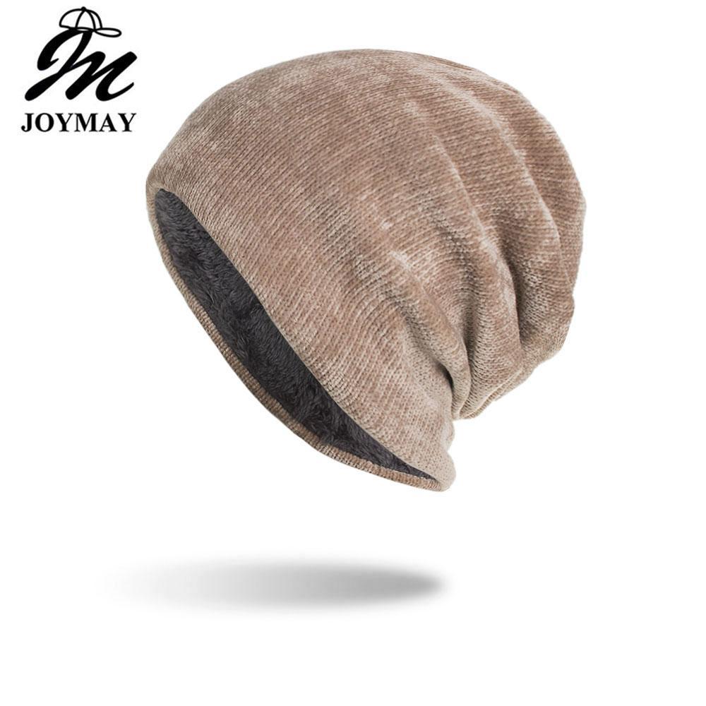 Compre Joymay 2018 Novo Chapéu De Inverno Unisex Chickies Skullies Gorros  Gorro De Malha Chapéus Gorro Caps Para Mulheres Dos Homens Dropshipping  WM104 De ... 0d2a0a0d90a
