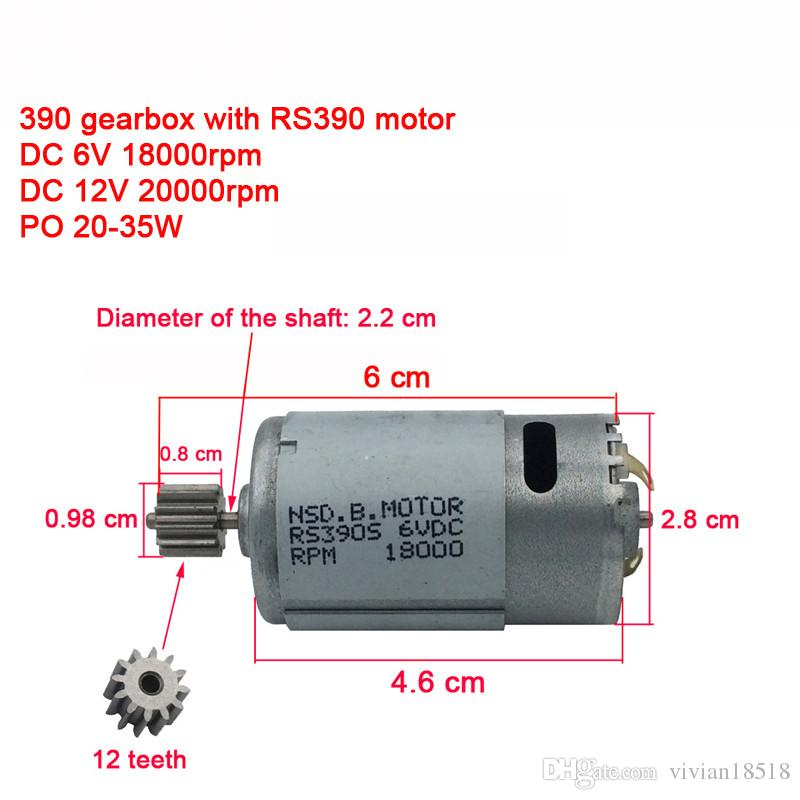Children electric car gearbox with motor,12v and 6V dc motor with gear box,baby car reducer gearbox, 550/390 engine gear box