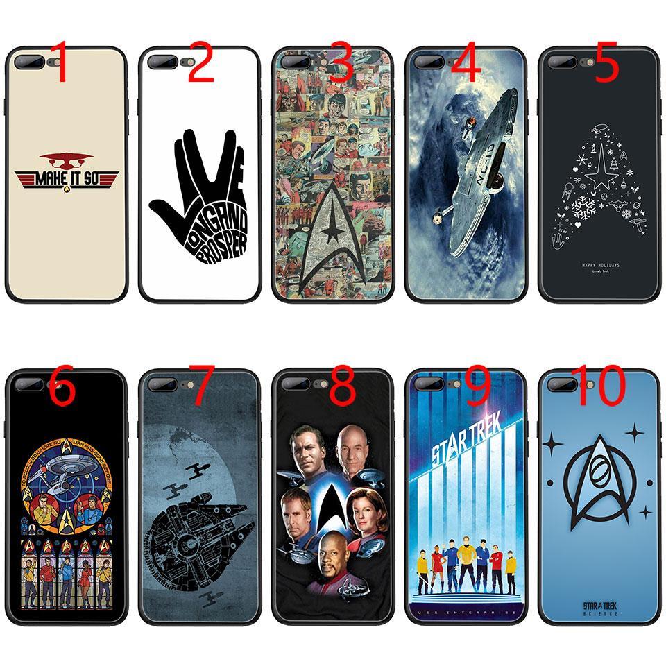 4ac2f275ca8 Personaliza Tu Movil Star Trek Soft Black TPU Phone Case Para IPhone XS Max  XR 6 6s 7 8 Plus 5 5s SE Cubierta Personalizar Carcasa Movil Por E_emal, ...