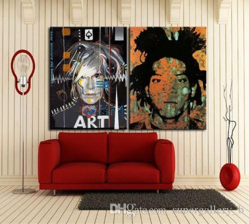 2 Panel Pure Handicrafts Modern Abstract Art Oil Painting Andy