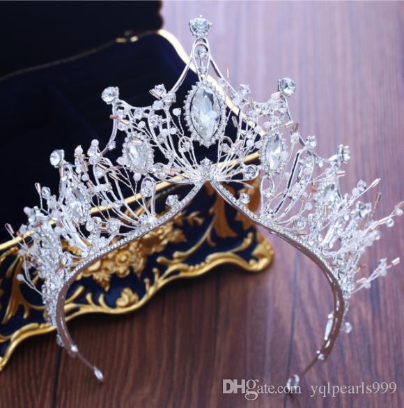 Couronne de mariage princesse couronne décorations accessoires en cristal accessoires accessoires de mariage