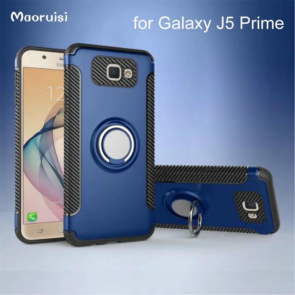 Case for Galaxy J5 Prime 2016 Phone Case for Samsung Galaxy J5 Prime 2016 G570 G570F Case TPU+PC with Rotatable Finger Ring bags