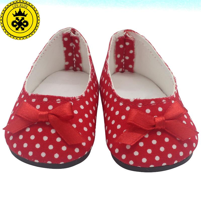 "American Girl Doll Shoes Fits 18 inch Doll Patent Leather Shoes With Bow Doll Accessories Shoes for 18"" Dolls 503-514"