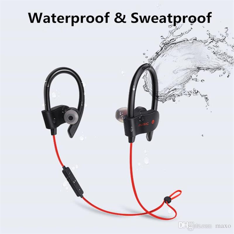 b831e69813e HiFi Sports Wireless Bluetooth Headphones 56S Outdoor Sports Sweatproof  Stereo Bass Ear Hook Sports Earphones In Ear With Mic Earbuds Best Quality  Earbuds ...