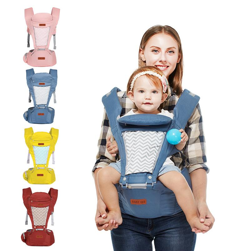 708d28ad89f 2019 Baby Carrier With Hip Seat Hood For 0 36 Months Infant Toddler  Breathable Waist Stool Strap Backpack Carriers Front And Back From  Shunhuico