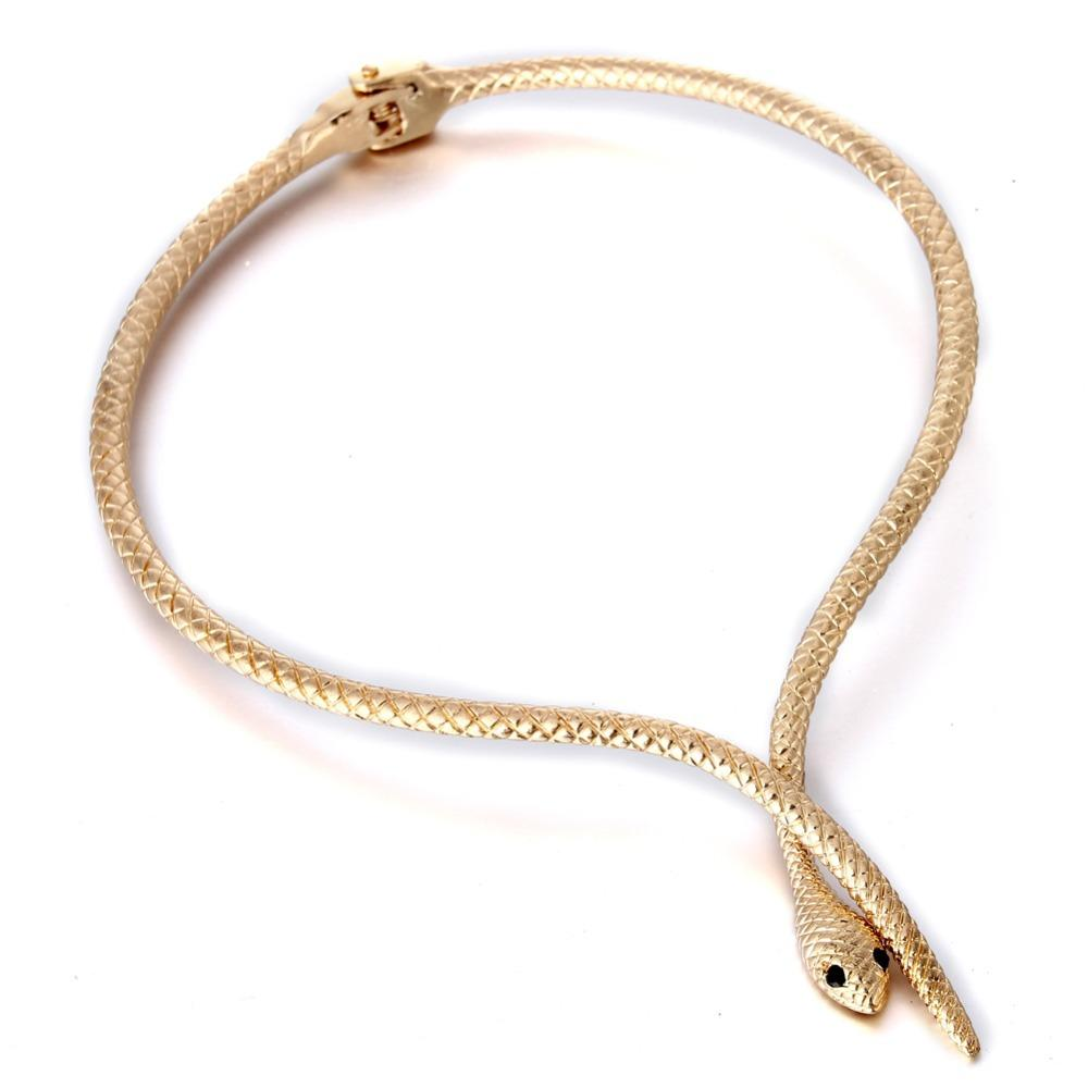 ecded07977f9a whole saleGold-color Snake Choker Necklace for Women 2017 Vintage Torques  Necklace Customized Fashion Jewelry Collar