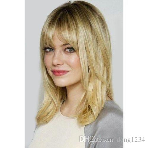 Attractive Blonde Long Vogue Fluffy Natural Wavy Women S Synthetic Wig Hair  Affordable Full Lace Wigs Wholesale Lace Front Wigs From Dong1234 6a17a81dfb