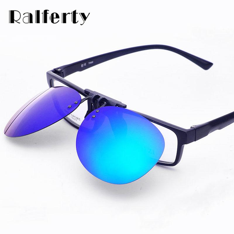 e399e0b2f06a Ralferty Mirror Pilot Polarized Sunglasses Men Night Vision Lens Polaroid Sun  Glasses Flip Up Clip On Sunglass Outdoor Goggles Clip on Sunglasses Clip on  ...