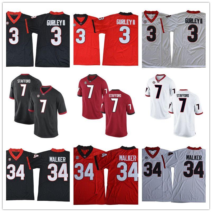 2019 Hot Sale Georgia Bulldogs College Football 3 Todd Gurley II 34 Herschel  Walker 7 Matthew Stafford Stitched NCAA SEC UGA Football Jerseys From ... 411482814