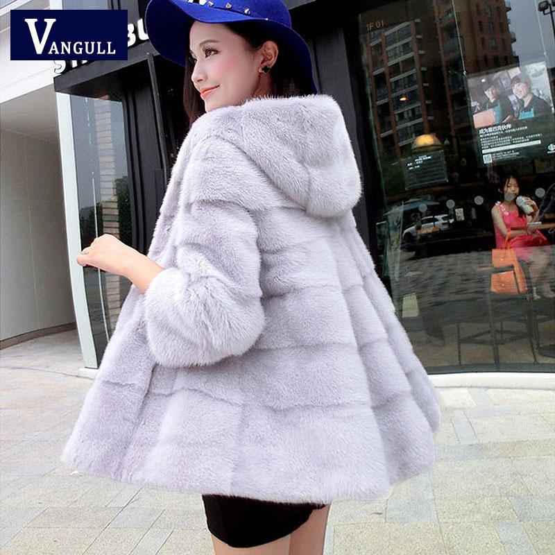2019 2017 New Faux Fur Coat Women Full Pelt Fur Jacket High Quality