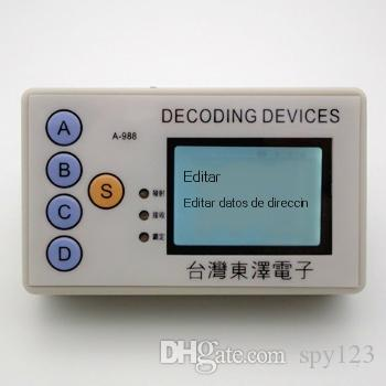 2018 English Spanish 315MHZ 330MHZ 430MHZ 433MHZ 4 in 1 remote control code  grabber code reader and scanner