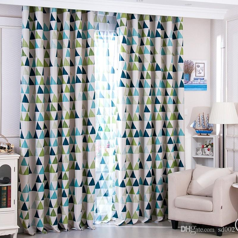 Best of 2018 Triangle Window Curtains Breathable Bedroom Living Room Decor Supplies Easy To Clean Shading Curtain Cloth High Quality 16 5yf Bw From Sd002 New - Style Of curtains direct Minimalist