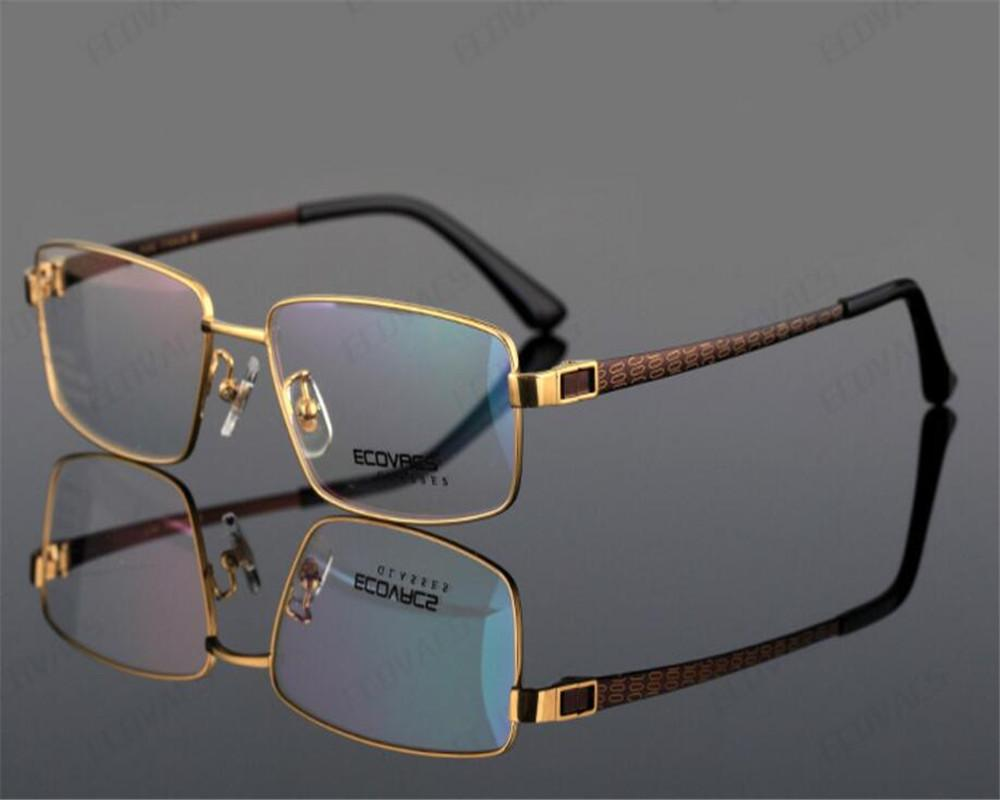 b32cc79d074 DOWER ME Pure Titanium Brand Men Full Rim Super Light Black Gold ...