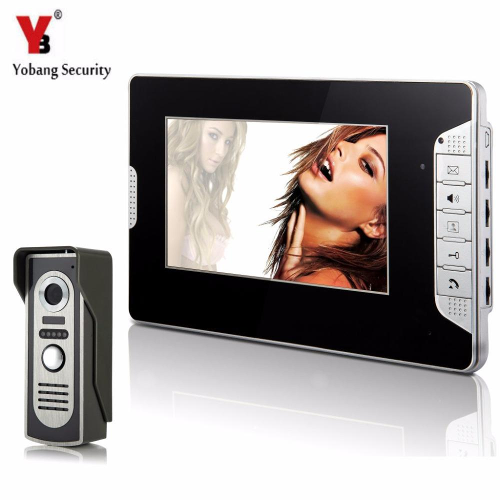 Yobangsecurity Home Security 7inch Monitor Video Doorbell Door Phone  Intercom Camera Monitor System Night Vision For Apartment Front Door Camera  Doorbell ...